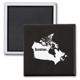 Canada Home Square Magnet