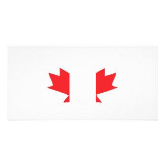canada icon customized photo card