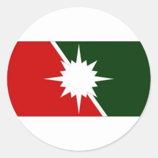 Canada Intelligence Branch Camp Flag Round Sticker