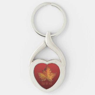 Canada Key Chains Custom Gold Maple Leaf Gifts