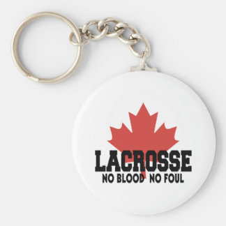 Canada Lacrosse Canadian Basic Round Button Key Ring