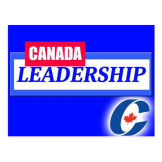 Canada Leadership Conservative Party Logo Postcard