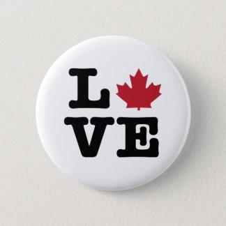 Canada Love Maple Leaf Button