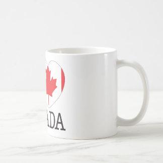 Canada Love v2 Basic White Mug