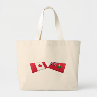 Canada & Manitoba Flag Tiles Bags