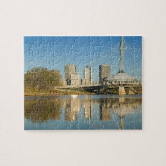 CANADA, Manitoba, Winnipeg: Esplanade Riel 2 Jigsaw Puzzle