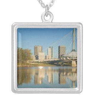 CANADA, Manitoba, Winnipeg: Esplanade Riel 2 Silver Plated Necklace