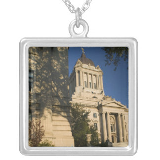 Canada, Manitoba, Winnipeg: Manitoba Legislative Silver Plated Necklace