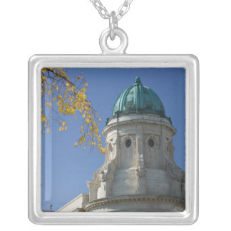 CANADA, Manitoba, Winnipeg: The Law Courts, Silver Plated Necklace