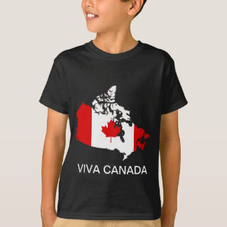 Canada map and flag T-Shirt