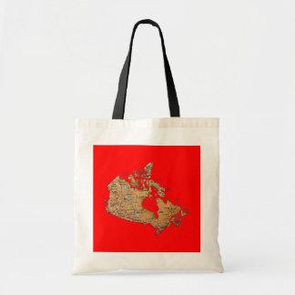 Canada Map Bag