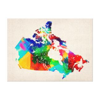 Canada Map Canvas Prints