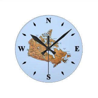 Canada Map Clock