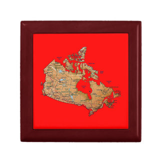 Canada Map Gift Box