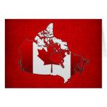 Canada: Map Greeting Card