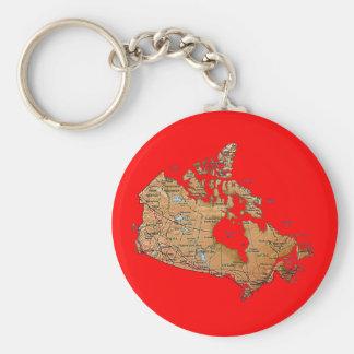 Canada Map Keychain