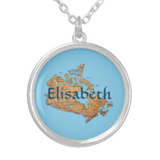 Canada Map + Name Necklace