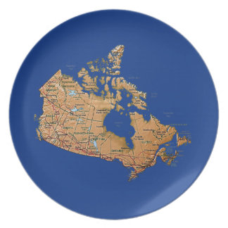 Canada Map Plate