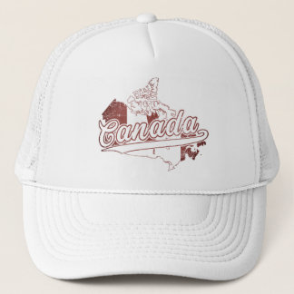 Canada Map Trucker Hat