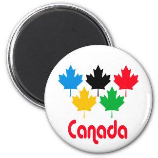Canada Maple Leaf 6 Cm Round Magnet