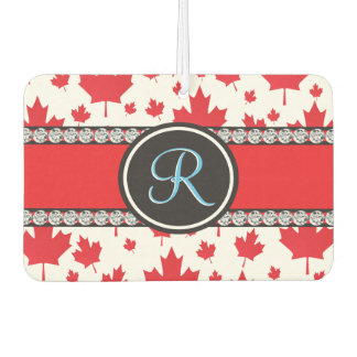 Canada Maple Leaf Abstract Diamond Monogram Car Air Freshener
