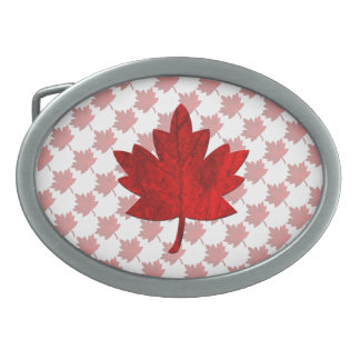 Canada-Maple Leaf by Shirley Taylor Oval Belt Buckles