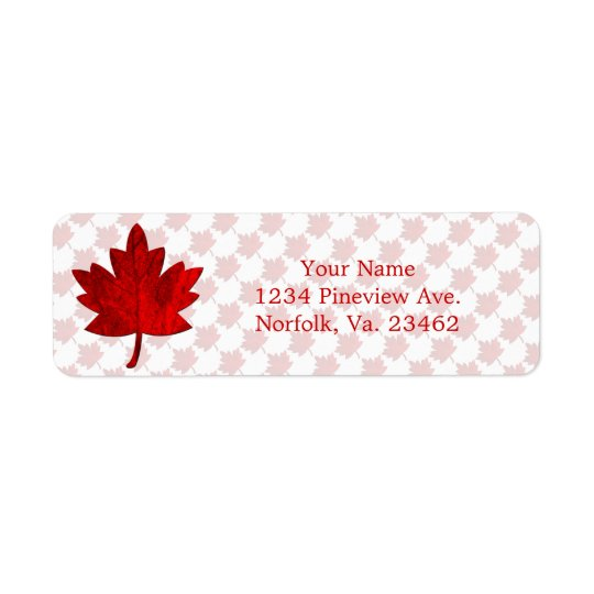 Canada-Maple Leaf by Shirley Taylor Return Address Label