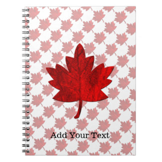 Canada-Maple Leaf by Shirley Taylor Spiral Notebook