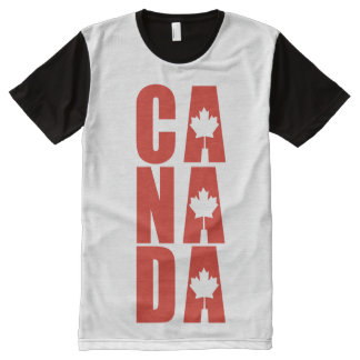 Canada Maple Leaf Designer Canadian Pride All-Over Print T-Shirt