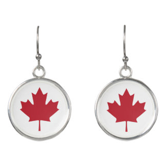 Canada Maple Leaf Drop Earrings