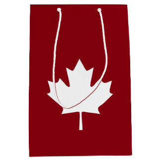 Canada Maple Leaf Gift Bag - Reverse Colors