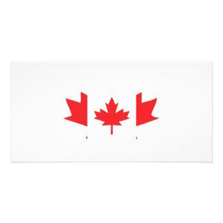 canada maple leaf icon custom photo card