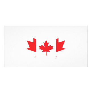 canada maple leaf icon personalized photo card