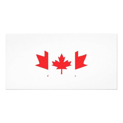 canada maple leaf icon personalized photo card