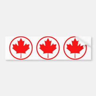 Canada Maple Leaf Inside of a Ring Bumper Stickers