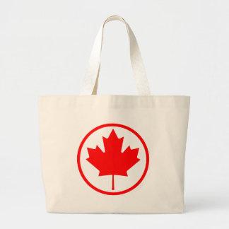 Canada Maple Leaf Inside of a Ring Jumbo Tote Bag