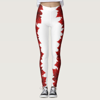 Canada Maple Leaf Leggings Autumn Leaves Leggings