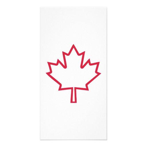 Canada maple leaf photo card template