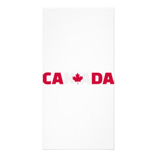Canada maple leaf photo cards