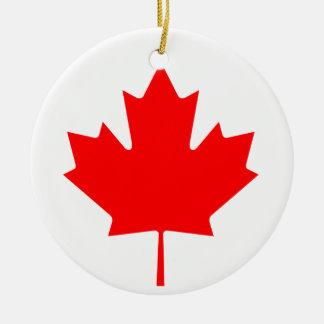 Canada Maple Leaf Round Ceramic Decoration