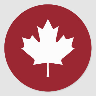 Canada Maple Leaf Sticker - Reverse Colors