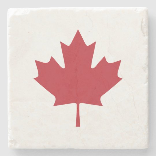 Canada Maple Leaf Stone Coaster