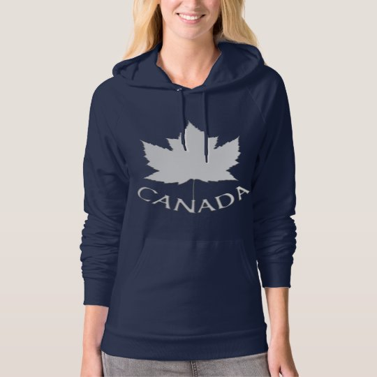 Canada Maple Leaf Women's Hoodie Hooded Shirt
