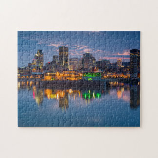 Canada, Montreal, skyline and Old Port Jigsaw Puzzle