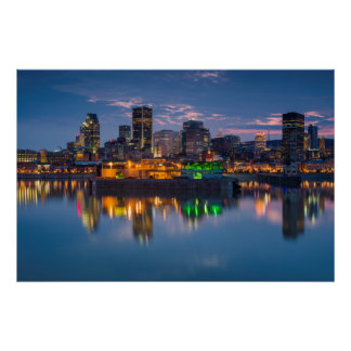 Canada, Montreal, skyline and Old Port Poster
