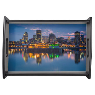 Canada, Montreal, skyline and Old Port Serving Tray