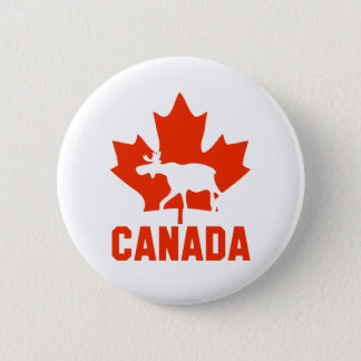 Canada Moose 6 Cm Round Badge