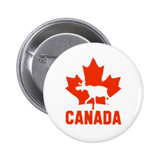 Canada Moose 6 Cm Round Badge