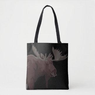 Canada Moose Bags Retro Moose Art Tote Bags