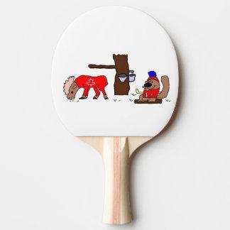 Canada Moose Syrup Beaver Ping Pong Paddle